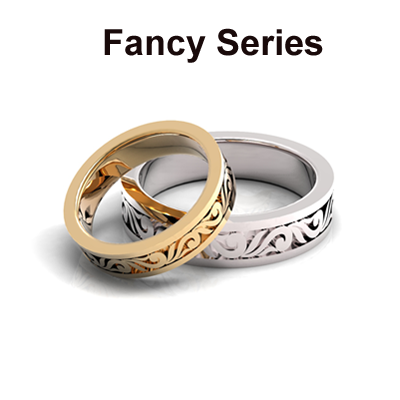Gold And Platinum Fancy Wedding Bands Series