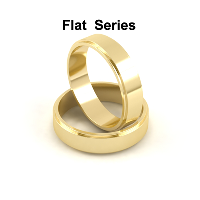 Gold And Platinum Flat Wedding Bands Series