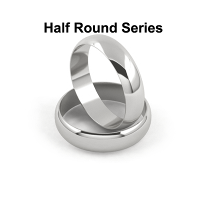 Gold And Platinum Half Round Wedding Bands Series